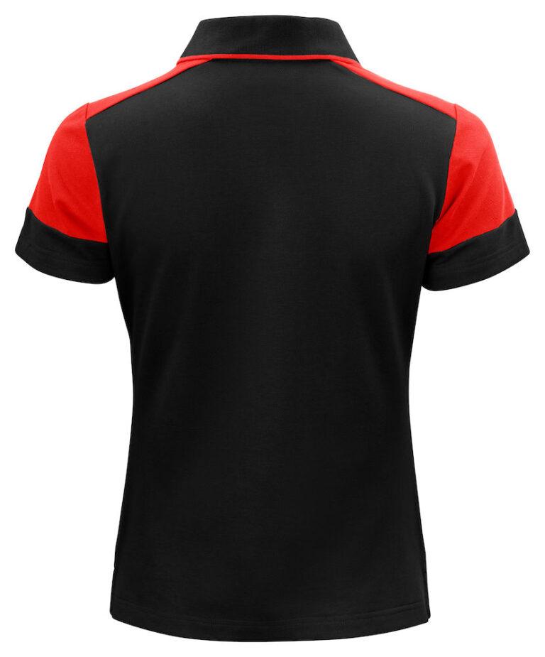 2265025 Prime Polo Lady zwart/rood